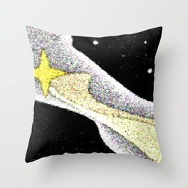 Comets Path Throw Pillow