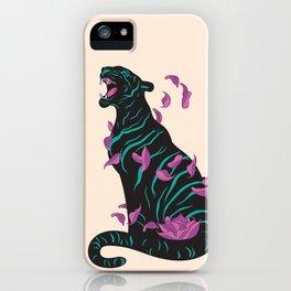 Black tiger iPhone Case