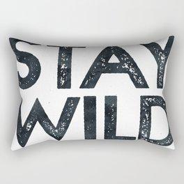 STAY WILD Vintage Black and White Rectangular Pillow
