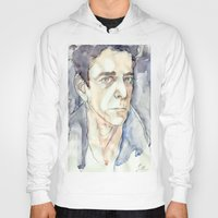 lou reed Hoodies featuring Lou Reed by Germania Marquez