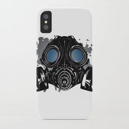 GAS_MASK_PROTECTION iPhone Case