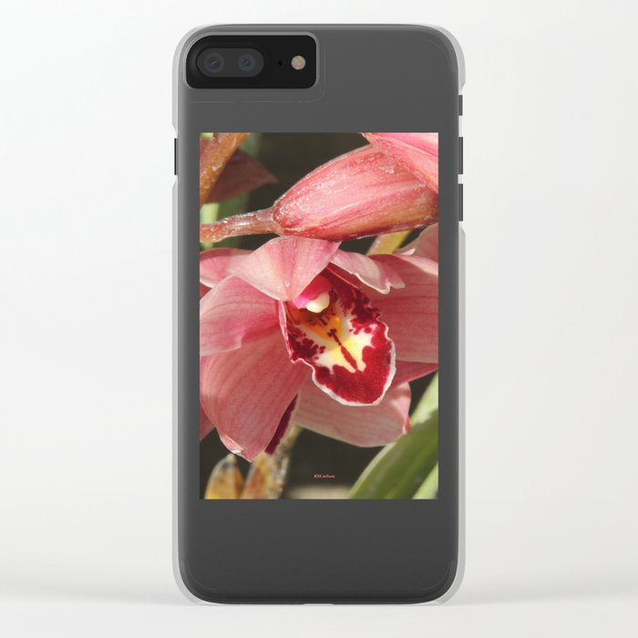 One Orchid on a Line Clear iPhone Case