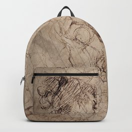 Renaissance Style Life Gesture Drawing Collage Backpack