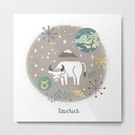 Taurus Earth Metal Print