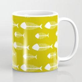 Ogre Yellow Fish Skeleton Pattern Design Coffee Mug