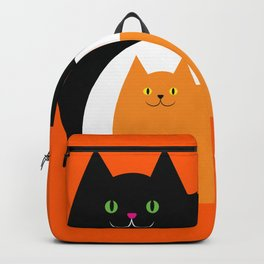 Halloween Cat Family Backpack