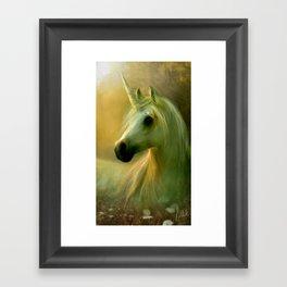 Elegance I - Unicorn Sun Framed Art Print