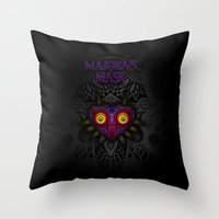 majoras mask Throw Pillows featuring Majora's Mask by Art & Be