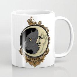 The cat & The Moon (Colored) Coffee Mug
