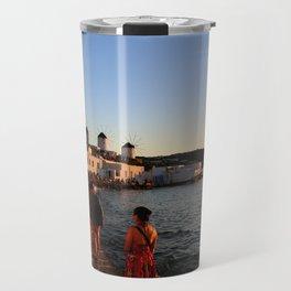 Windmills of Mykonos Travel Mug