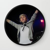 niall horan Wall Clocks featuring Niall Horan by lackofabettername123