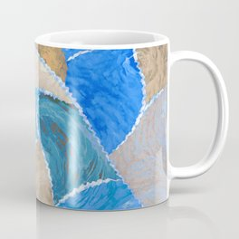 blue smeared patchwork Coffee Mug