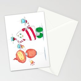 Mocha Mechs Stationery Cards