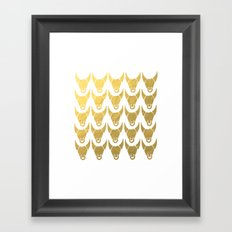 GOLD BULL HEADS ILLUSTRATION PATTERN - SUMMER 2017 Framed Art Print