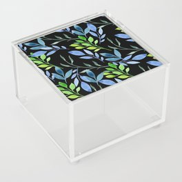 Blue and Green Leaves Acrylic Box