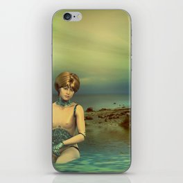 Cybergirl try to Escape iPhone Skin