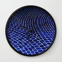 Blue Brick Road Wall Clock
