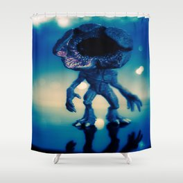 """Searching for its next victim"" Shower Curtain"