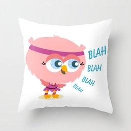 Talkative owl Throw Pillow