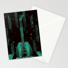 breathing music tonight Stationery Cards