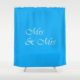 Mrs & Mrs Monogram Shower Curtain
