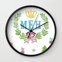 Le Royal December Meh Wall Clock