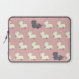 Proud cat pattern Pink Laptop Sleeve