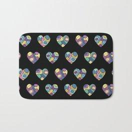 patchwork hearts Bath Mat