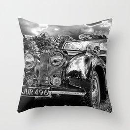 Black old car Throw Pillow