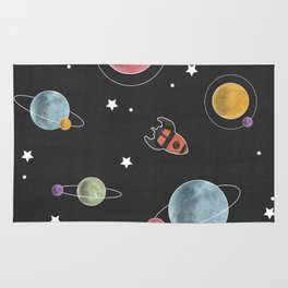 retro space pattern Rug