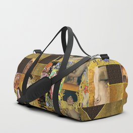 Klimt geometric collage Duffle Bag