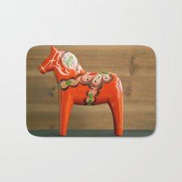 Dala horse - Dalecarlian horse Bath Mat