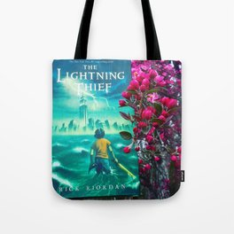 Percy Jackson & the Cherry Blossom Tree Tote Bag