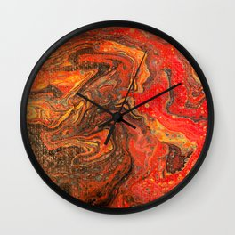 Dirty Acrylic Paint Pour 24, Fluid Art Reproduction Wall Clock