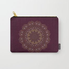 Gold Mandala Mosaic on Royal Red Carry-All Pouch