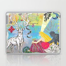 The Lovers and the blue deer  Laptop & iPad Skin