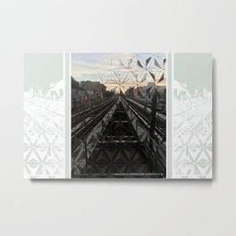 LIFE TRACKS Metal Print