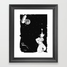 You show the moon, I look at the finger Framed Art Print