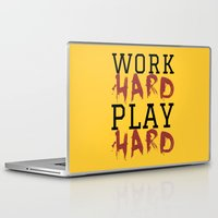 die hard Laptop & iPad Skins featuring HARD by Free Specie