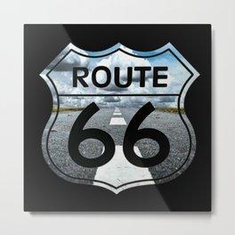 Route 66 Road Landscape Sign Metal Print