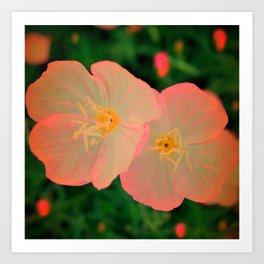 2 Tangerine Flowers   Flower   Nadia Bonello   Canada Art Print