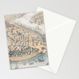 Vintage Pictorial Map of New York City (1852) Stationery Cards