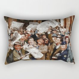 VE Day, WWII Rectangular Pillow