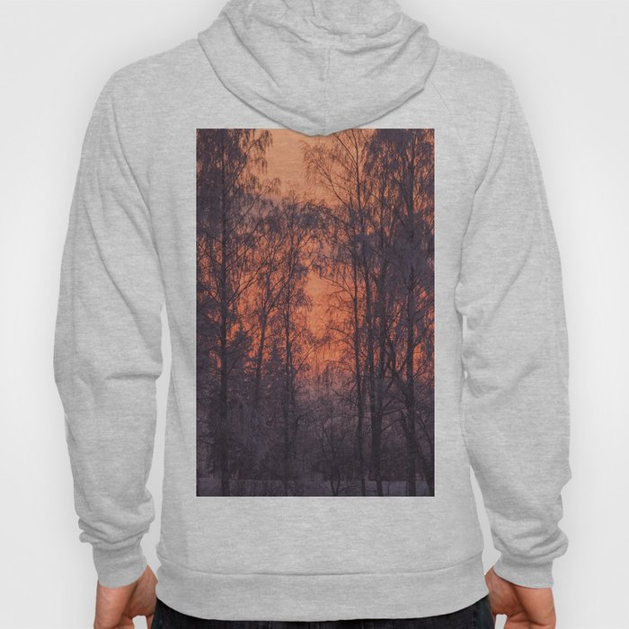 Winter Scene - Frosty Trees Against The Sunset #decor #society6 #homedecor Hoody