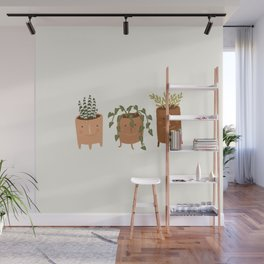 Little Face Vases Wall Mural