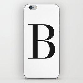 'B' Initial iPhone Skin