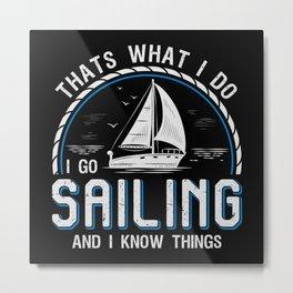 Sailboat Designs For Sailors Who Love The Sea Metal Print