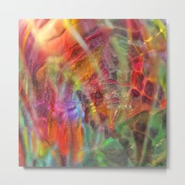 Abstract Multi-coloured 1822 Metal Print