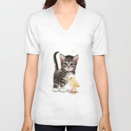 The PUSSYcat and the Chick Unisex V-Neck