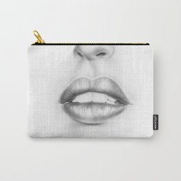 Lips Illustration   Pouty Lips   Woman   Lady   Girl   Sexy Carry-All Pouch